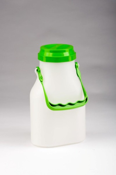 2 Liter Milchkanne oval, auslaufsicher