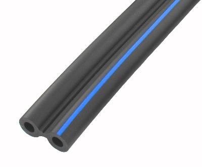 Doppelluftschlauch 2x 7,0x13,9 mm, BLAUER Streifen