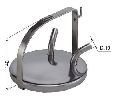 Edelstahl Melkeimer Deckel für Melkeimer mit hohem Bügel, 142 mm