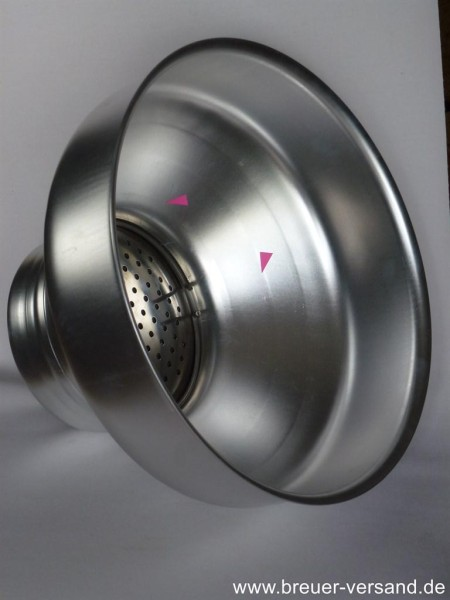 Aluminium Milchfilter mit Edelstahl Einsatz, B-Ware (mit Kratzern)