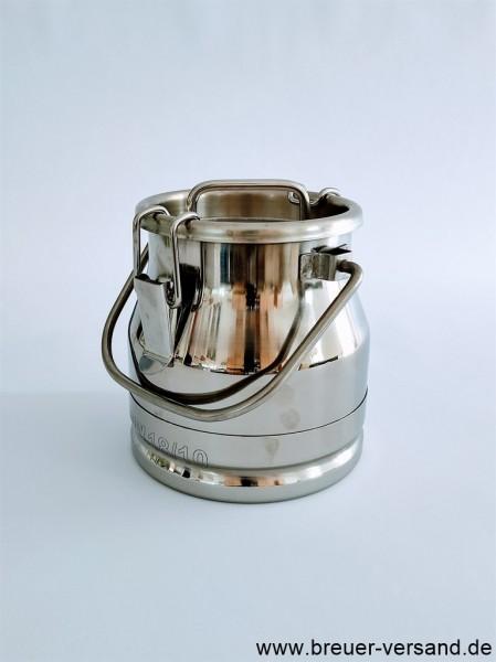Auslaufsichere 3 Liter Edelstahl Milchkanne. Bestellen Sie diese robuste und langlebige Milchkanne bei uns online.
