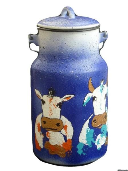 "Bemalte Milchkanne 4 Liter, Motiv ""Wilma & Rudi"""