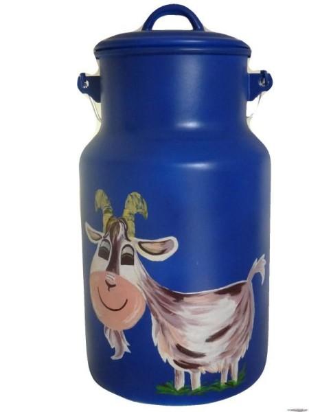 """Bemalte Milchkanne 4 Liter, Motiv """"Ziege Rudi"""""""