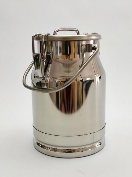 Auslaufsichere 5 Liter Edelstahl Milchkanne mit Deckel und Tragebügel. Hier informieren und gleich online bestellen.