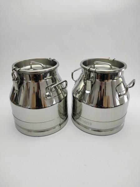 Die auslaufsichere Edelstahl Milchkanne 20 Liter gibt es auch im günstigen Doppelpack. Hier gleich online bestellen,
