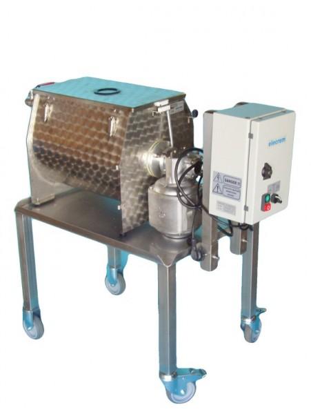 Elba 80 Buttermaschine mit Knetautomatik, das abgebildete Fahrgestell ist optional erhältlich
