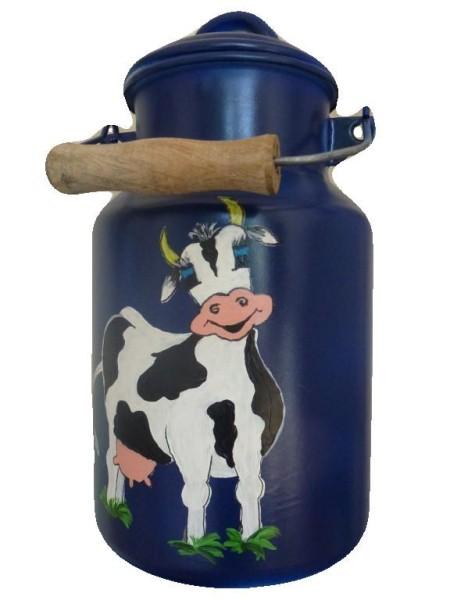 "Bemalte Milchkanne 2 Liter, Motiv ""Kuh Berta"""