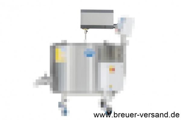 Spezielle Edelstahl Abdeckung für 300 Liter Käsekessel FJ 300. Schützt den Motor und die Antriebseinheit des Rührwerks