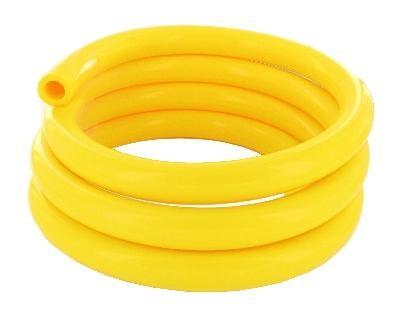 Silikon Milchschlauch 16,0x27,0 mm, gelb,  Rolle 25 Meter, beste Qualität, Deutsche Herstellung
