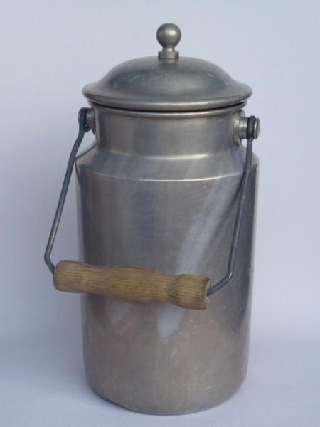 2 Liter Milchkanne alt Nostalgie aus Aluminium
