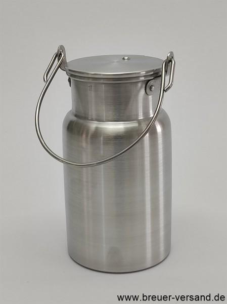 Kleine 1 Liter Aluminium Milchkanne
