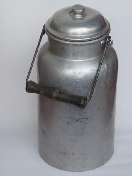 5 Liter alte gebrauchte Milchkanne Aluminium