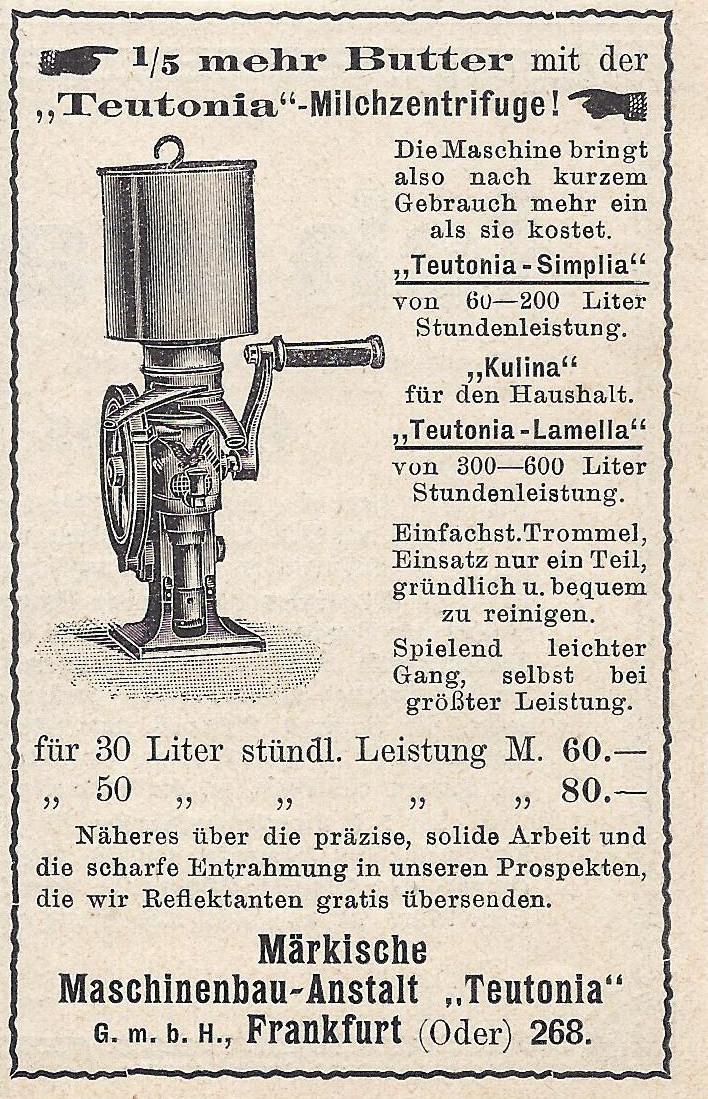 Teutonia-Milchzentrifuge