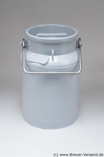 10 Liter Kunststoff Milchkanne, inklusive Deckel