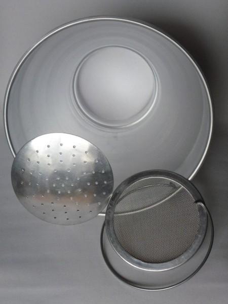12 Liter Milchseiher, komplett Aluminium