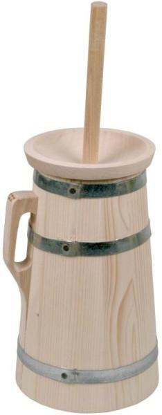 Butterfass 2 Liter aus Fichtenholz