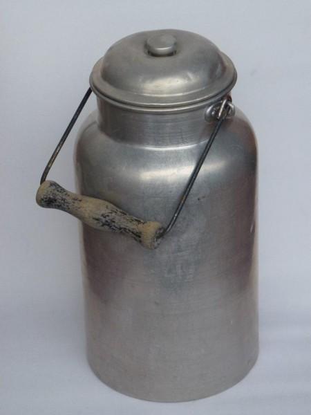 5 Liter Aluminium Milchkanne alt gebraucht