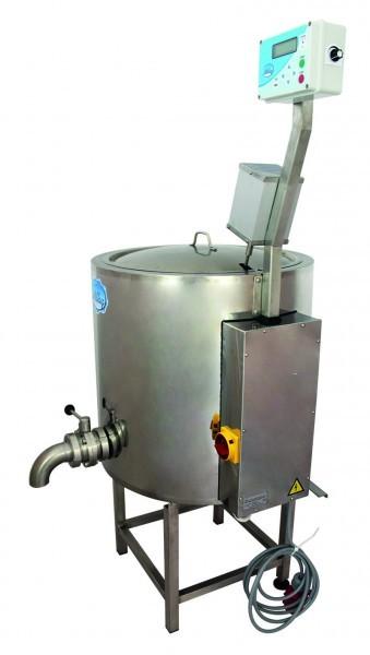 Pasteurisator, Käsekessel, Joghurtkessel, Mehrzweckkessel mit einem Volumen von 100 Liter in Vollausstattung