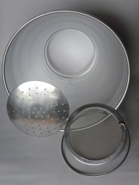 6 Liter Milchseiher, komplett Aluminium