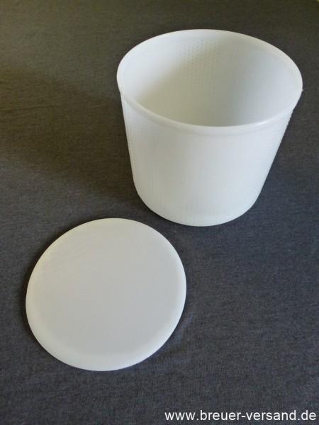 Käseform rund mit Boden Ø 18 cm inkl. Deckel