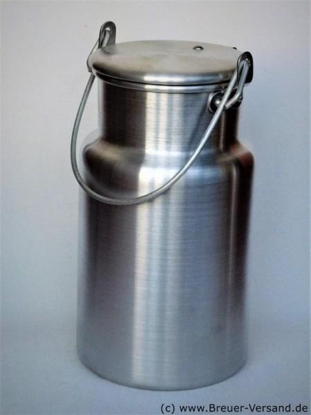 Optisch ansprechende 1,5 Liter Aluminium Milchkanne