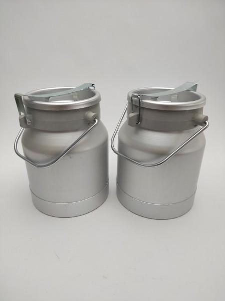Auslaufsichere 10 Liter Aluminium Milchkannen im günstigen Doppelpack