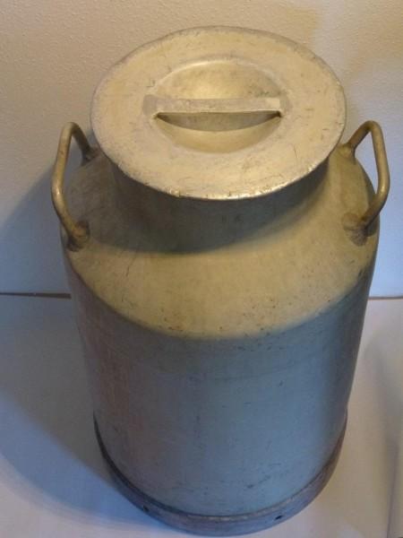 40 Liter Aluminium Milchkanne alt gebraucht