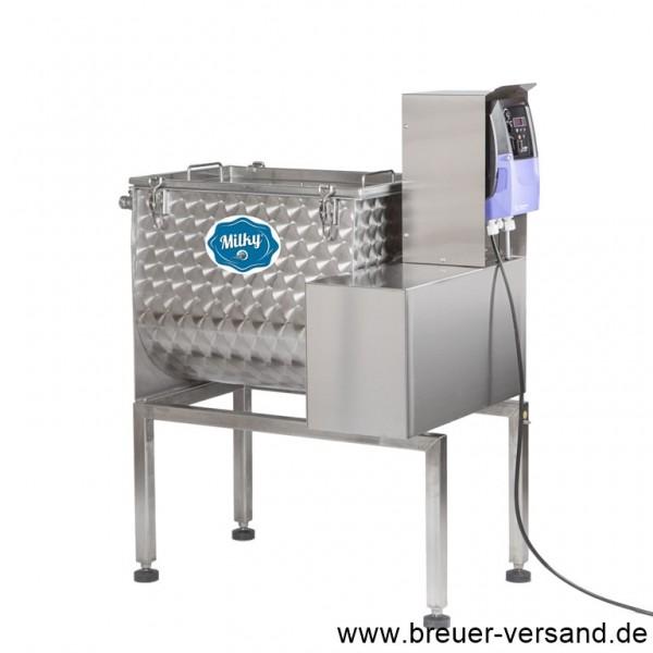 Die Buttermaschine FJ 55. Verarbeiten Sie bis zu 25 Liter Rahm pro Charge.