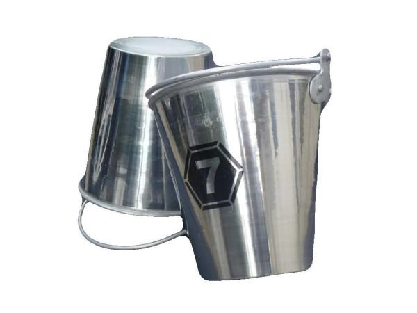 Aluminium Eimer 7 Liter