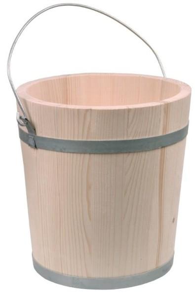 Holzeimer 5 Liter aus naturbelassenem Fichtenholz