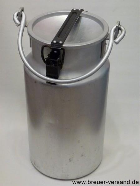 Alte 5 Liter Milchkanne aus Aluminium, mit Tragebügel