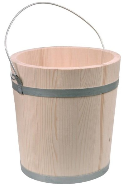 Holzeimer 10 Liter aus naturbelassenem Fichtenholz