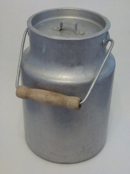 5 Liter Alumenium Milchkanne alt gebraucht