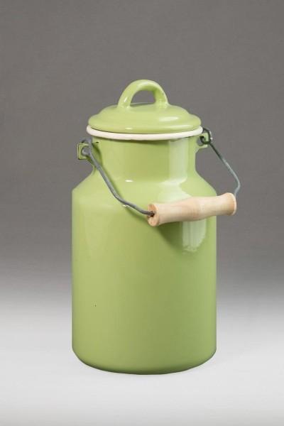 Emaillierte 2 LIter Milchkanne in mintgrün