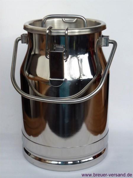 Auslaufsichere 5 Liter Edelstahl Milchkanne mit Deckel und Tragebügel