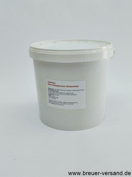 Kamala Fruchthaarpulver im 5 kg Eimer. Ideal geeignet als Textil Färbemittel