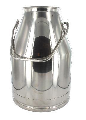 Edelstahl Melkeimer 25 Liter mit hohem Bügel