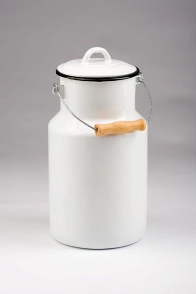 Emaillierte Milchkanne 4 Liter
