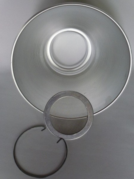 3 Liter Milchsieb, komplett Aluminium
