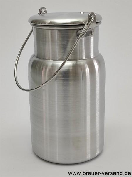 Aluminium Milchkanne mit einem Fassungsvermögen von 2 Liter