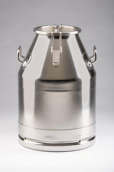Edelstahl Milchkanne 30 Liter inklusive Deckel, auslaufsicher