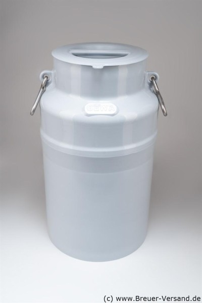 Kunststoff Milchkanne 40 Liter, inklusive Deckel und zwei Henkel zum Tragen