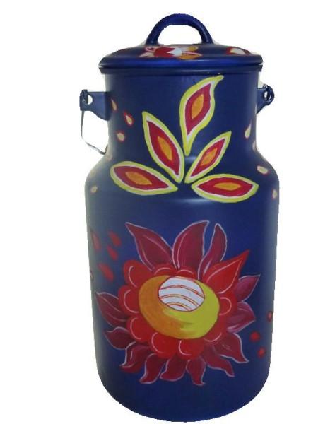 "Bemalte Milchkanne 4 Liter, Motiv ""Blume"" Nr. 10"