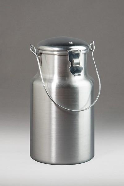 Aluminium Milchkanne 2 Liter mit Deckel und Tragebügel