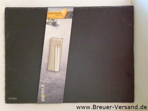 Schiefer Käseplatte inklusive 2 Speckstein Stifte