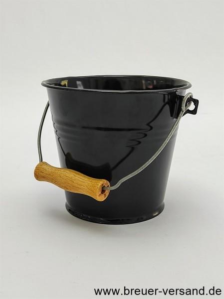 Klein, edel und dekorativ: Der kleine 1 Liter Eimer in schwarz eimailliert