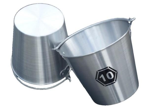 Aluminium Eimer 10 Liter