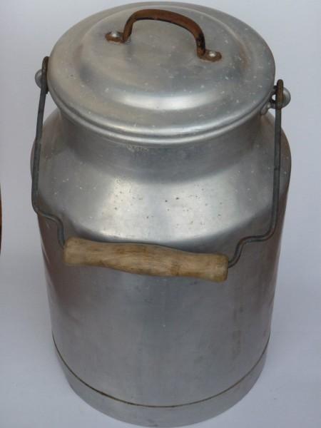 5 Liter Milchkanne alt gebraucht aus Aluminium