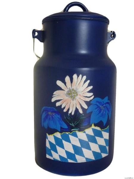"""Bemalte Milchkanne 4 Liter, Motiv """"Gruß aus Bayern"""""""